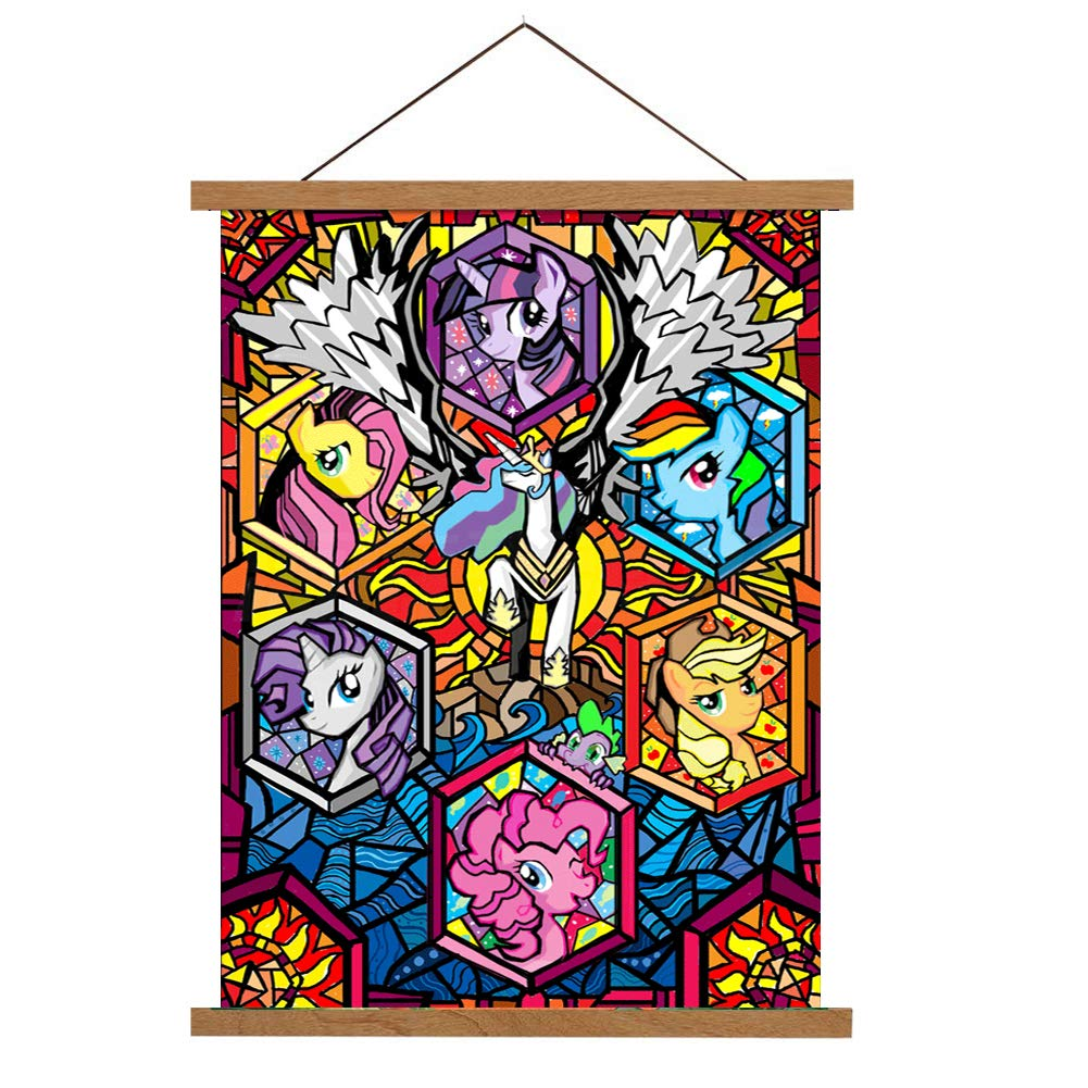 5D DIY Full Drill Diamond Painting Kit, Rhinestone Painting Kits for Adults and Children Embroidery Arts Craft Home Decor Cartoon Anime Series12 x 16 inch (My Little Pony, 30x40cm)