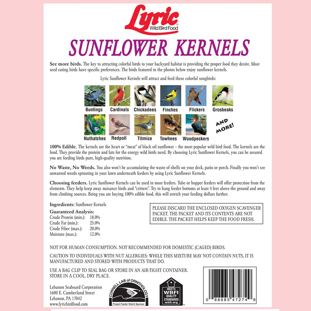 Lyric Sunflower Kernels - 5 lb. Bag by Lyric (Image #2)
