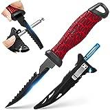 Piscifun Razor X Fillet Knife with Pop-Up Sharpening Bar Knife Sheath, German Stainless-Steel Blade Bait Knife, Anti-Corrosio
