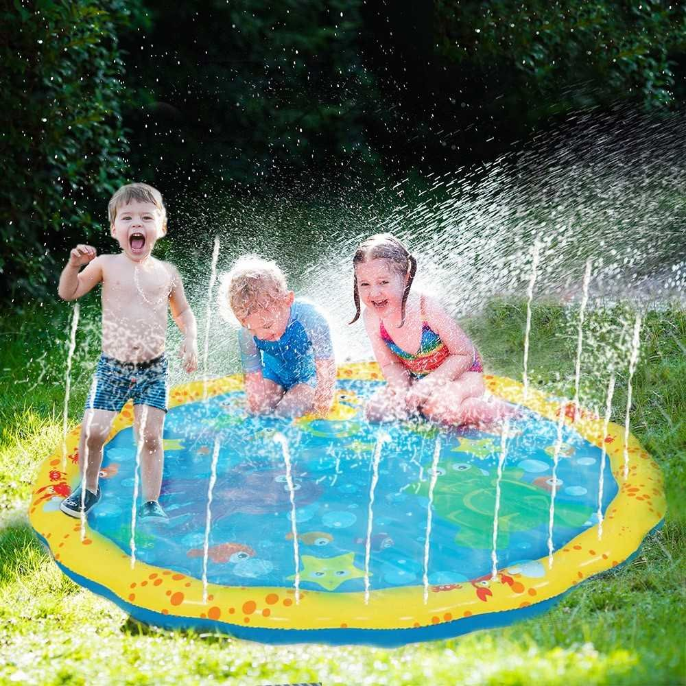 GoFloats Alayna 54in-Diameter Sprinkle and Splash Play Mat