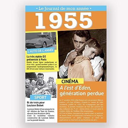 Carte D Anniversaire Le Journal De Mon Annee 1948 2011 1955 Amazon Fr Fournitures De Bureau