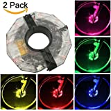 SWINCHO Bike Wheel Lights Rechargeable, Waterproof LED Cycling Lights, Colorful Bicycle Wheel Lights for Safety Warning and Decoration