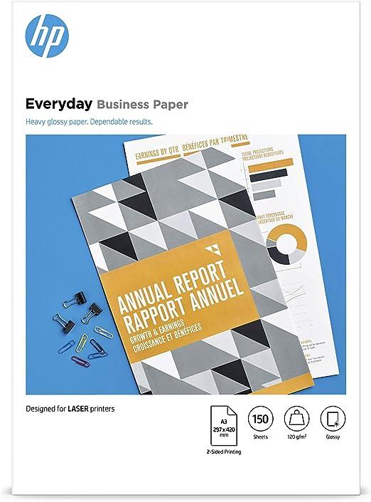 A3, 150 Blatt, gl/änzend, 120 g//m/² HP Everyday Business Laser-Papier
