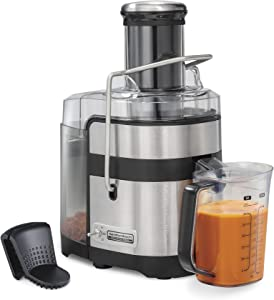 """Hamilton Beach Professional Juicer Machine With 3.5"""" Super Chute, 1100 Watts Easy Sweep Cleaning Tool, Black (67906)"""