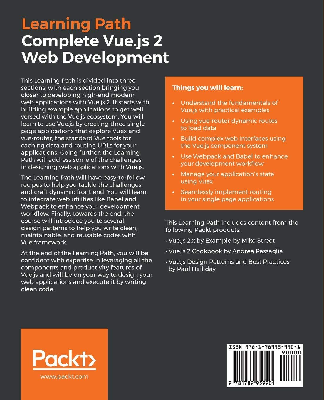 Complete Vue js 2 Web Development: Practical guide to building end