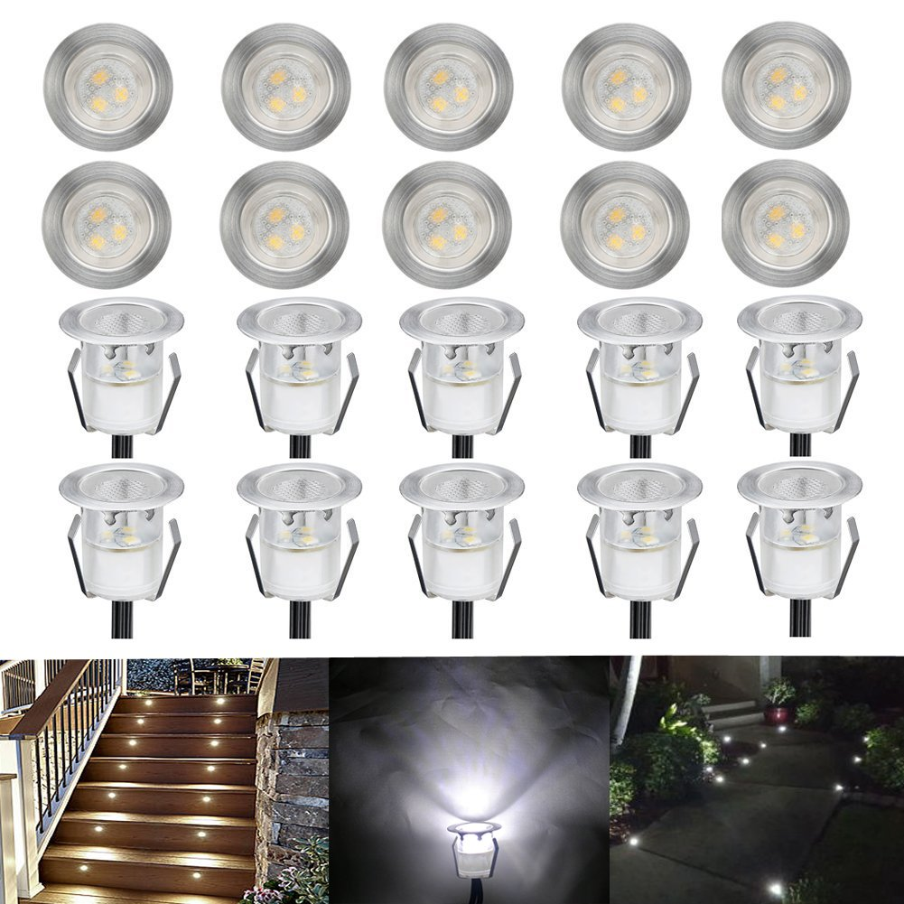 Lot De 20 Led Spot De Lampe Au Sol Rgb Rvb O30mm Eclairage