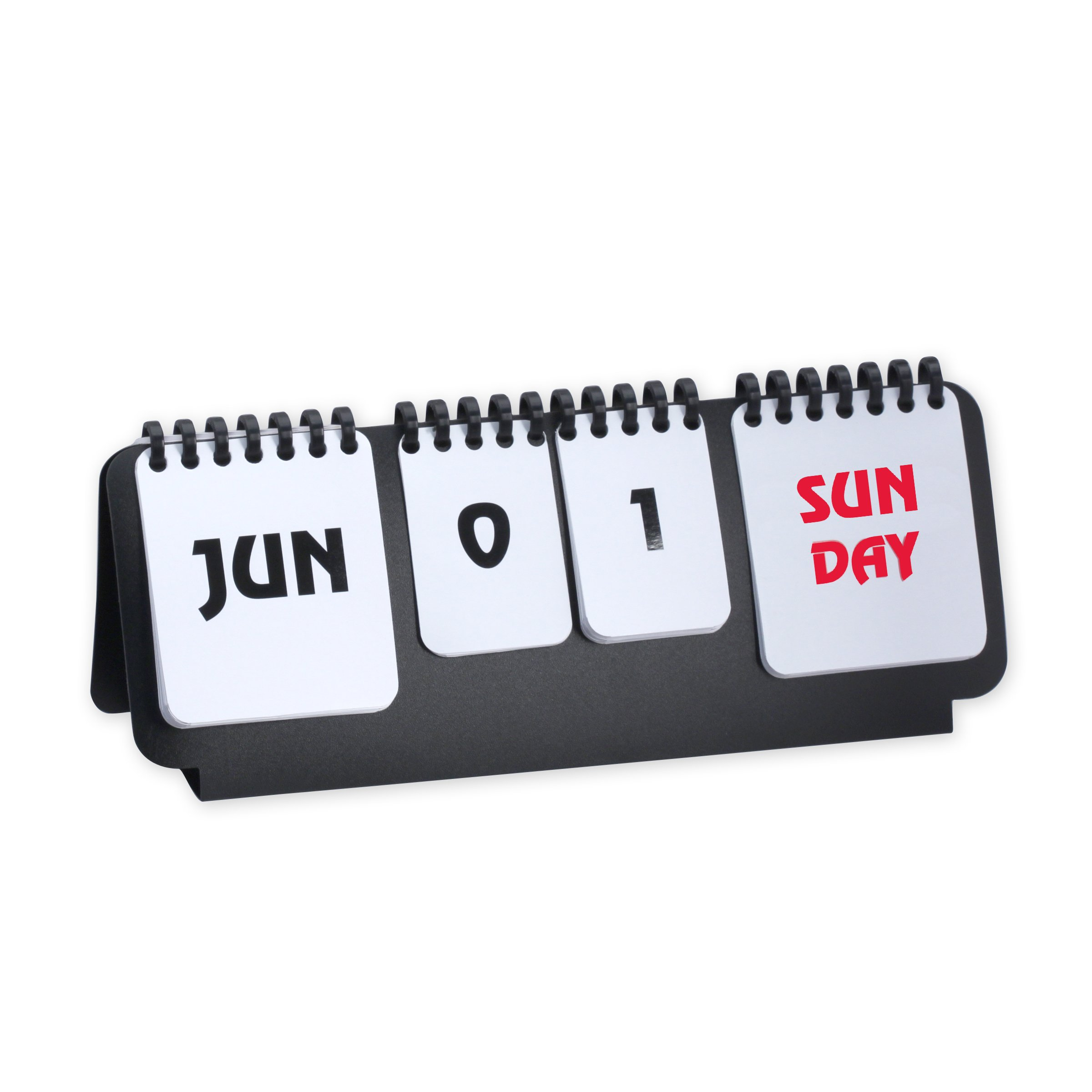 Flip Chart Perpetual Calendar Desk Accessory Black/White Color