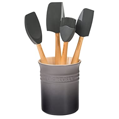 Le Creuset of America Craft Series 5Piece Utensil Set with Crock -Oyster