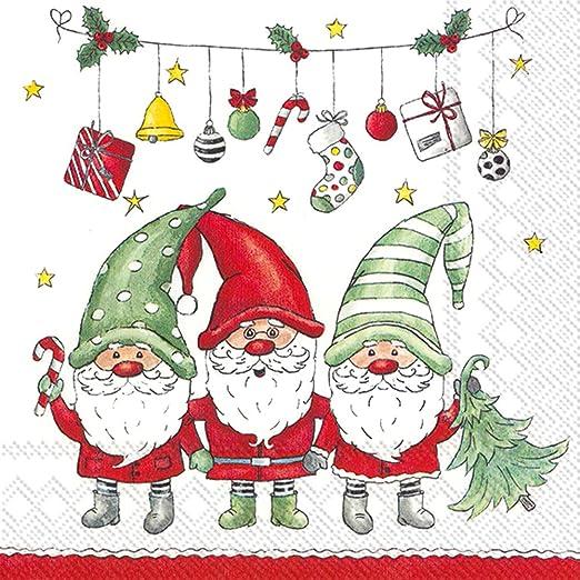 Mesa De Navidad festiva Robin Petirrojo Papel Fiesta Servilletas Servilletas Pack 20