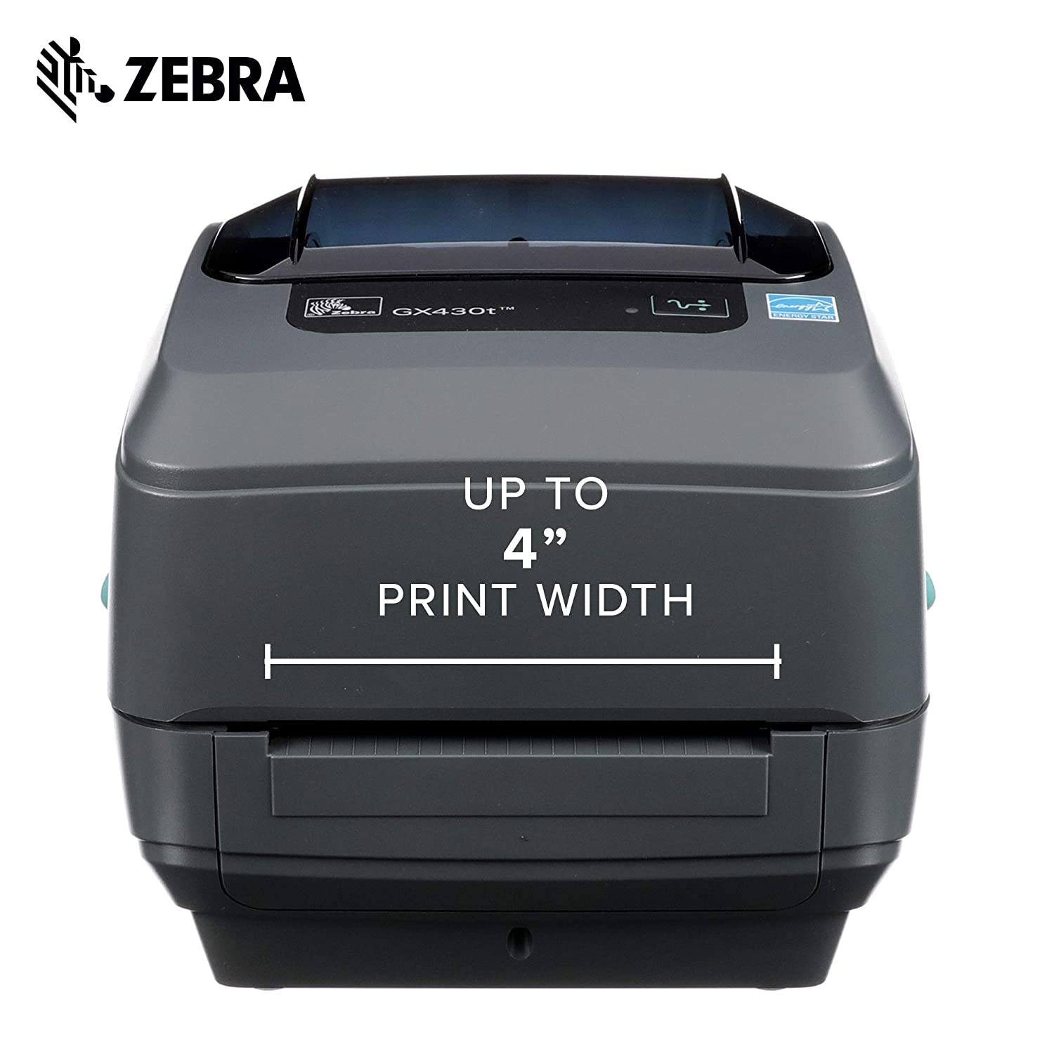 Zebra - GX430t Thermal Transfer Desktop Printer for Labels, Receipts,  Barcodes, Tags, and Wrist Bands - Print Width of 4 in - USB, Serial, and