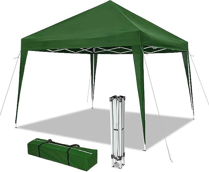 VOUNOT Cenador de jardín 3x3m Plegable   Carpa de jardín Plegable rápida para Instalar   Toldo Plegable para Camping, Festival, Playa, Jardines   Incluye Bolsa de Transporte: Amazon.es: Jardín