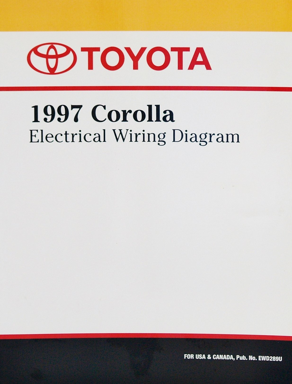 1997 Toyota Corolla Electrical Wiring Diagram: Toyota Motor Corporation:  Amazon.com: Books | 1997 Toyota Corolla Wiring Diagram |  | Amazon.com