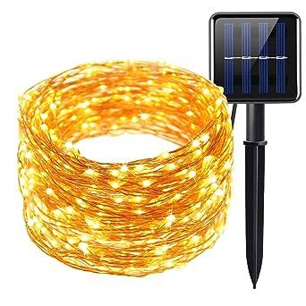 db2ef4acf7f Guirnalda Luces exterior Solares 20M 200 LED