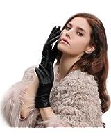 GSG Ladies Winter Warm Spain Genuine Leather Driving Gloves Hi-tech Touchscreen SALE