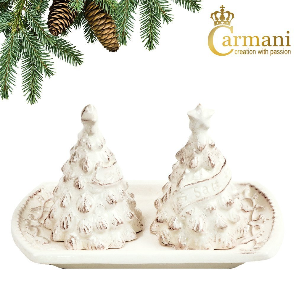 CARMANI - Christmas salt and pepper - Creamy Ceramic
