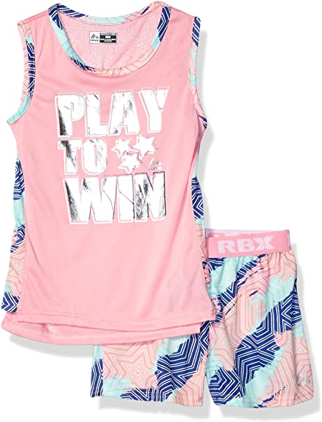 6X Coral RBX Girls Little Active Top and Short Set