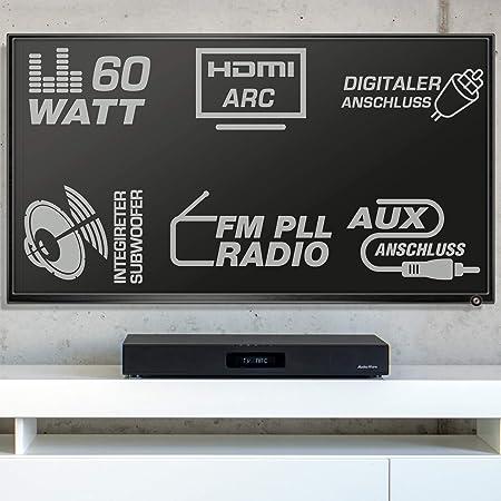AudioAffairs Sistema de Altavoces | Cine en Casa HDMI ARC | Barra ...
