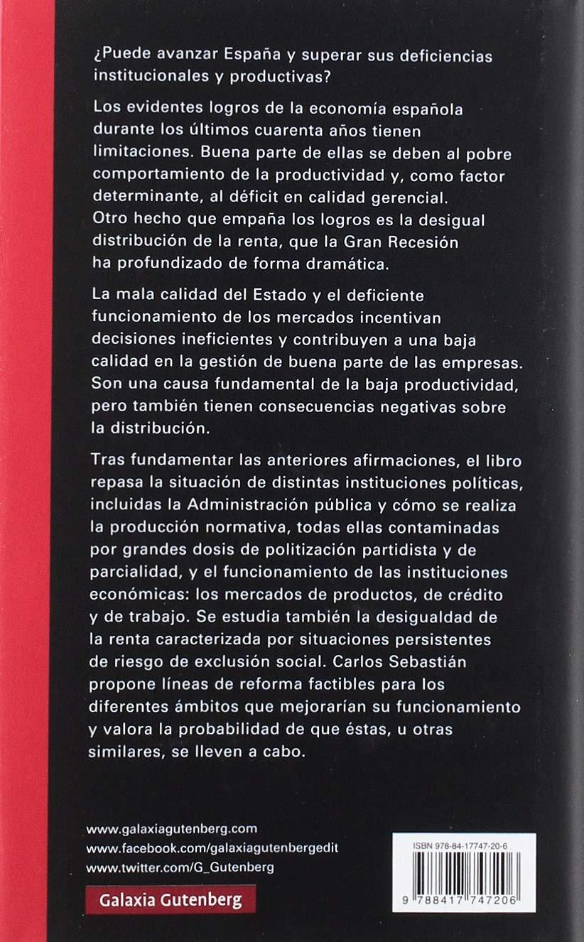 Para que España avance (Ensayo): Amazon.es: Sebastián, Carlos: Libros