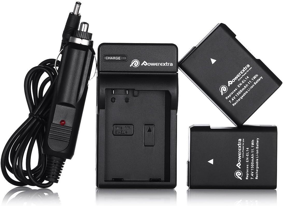 d5500-en-el14 2 x batería d5300 d5200 d5100 CARGADOR para Nikon d3300
