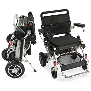 F KD FoldLite Safe Lithium Battery Lightweight Portable Folding Electric Power Wheelchair Heavy Duty, with