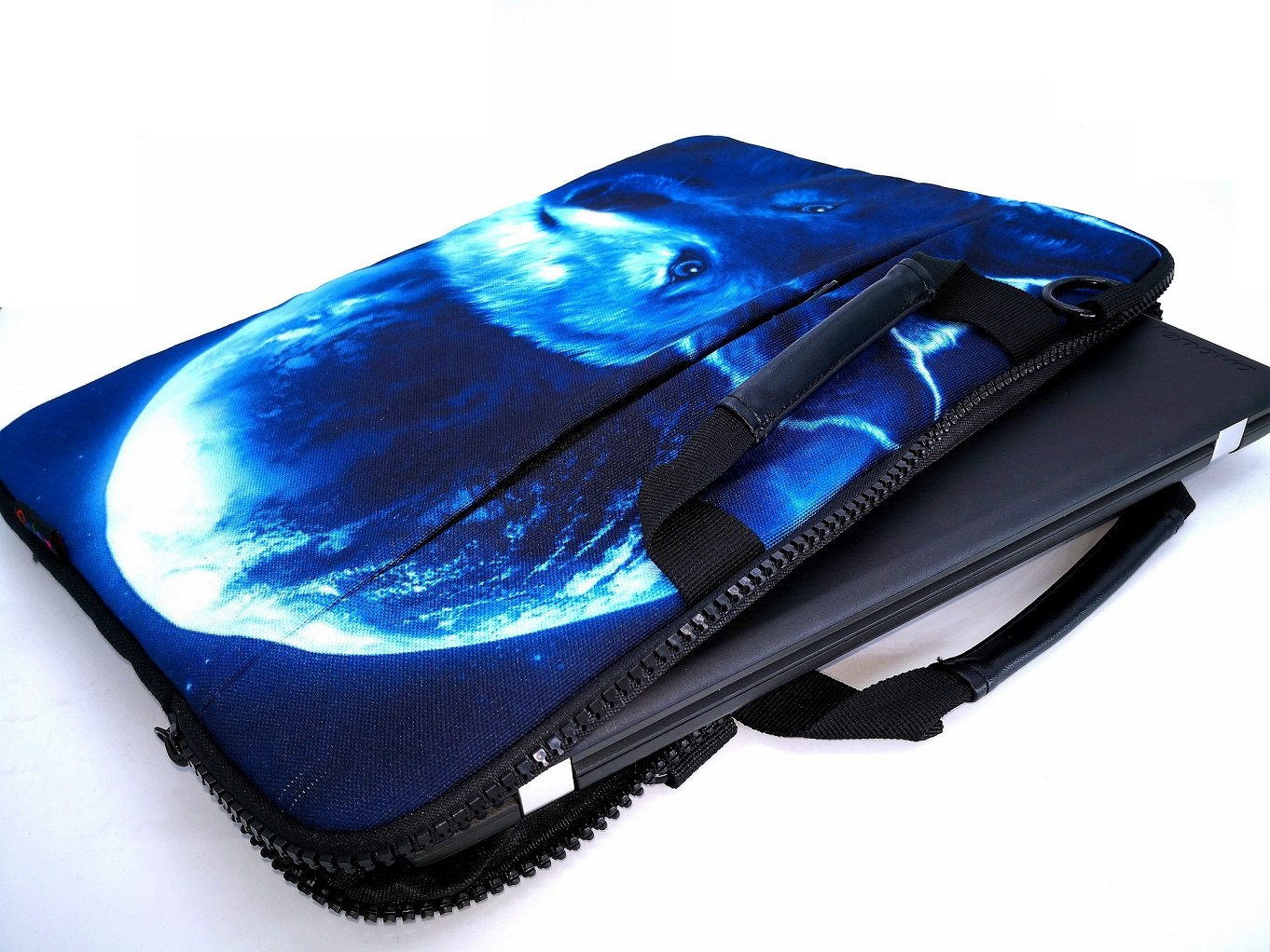 iColor 15'' Canvas Laptop Shoulder Messenger Bags 14'' 15.4 Inch Briefcase 15.6'' Computer PC Notebook Tablet Handle Cases Carrying Sleeve Cover Holder (14''~15.6'', Cool Wolf) by iColor (Image #3)