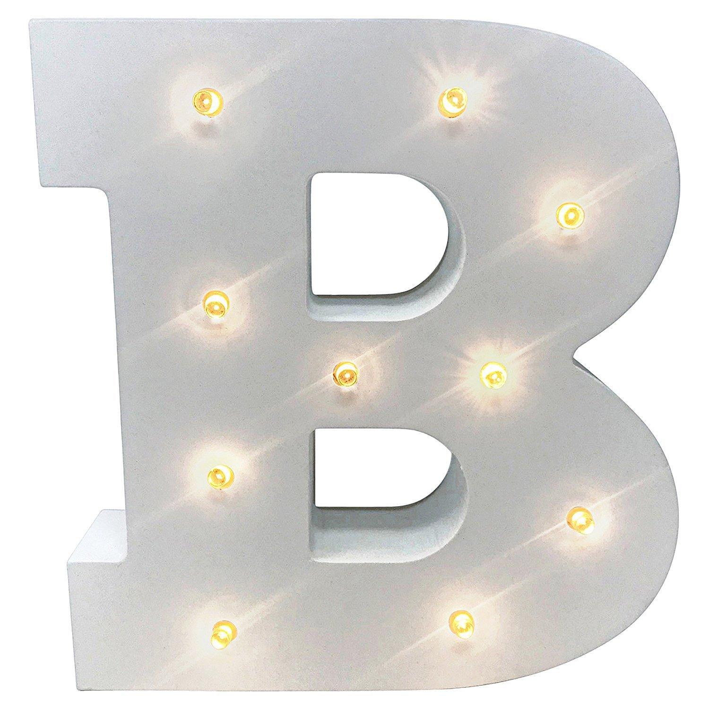 Gemini Mall® mit Buchstaben, mit Deko-Buchstaben aus Holz, mit Buchstaben–batteriebetrieben–mit einem & Gemini_mall