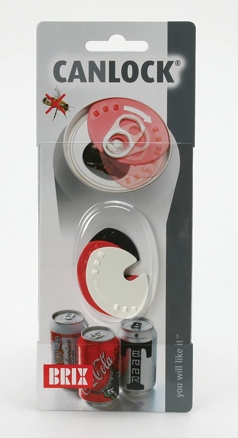 Brix Canlock Beverage Can Lid, Set of 3, Red