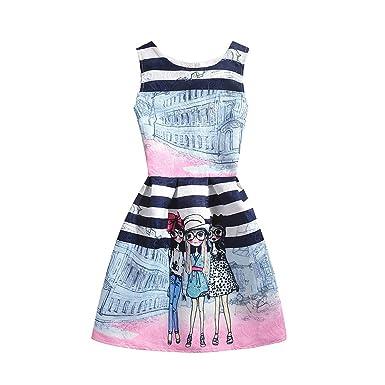 50b72b80f Perfectme Children Clothing 2018 Girls Dress Summer Butterfly Floral Print  Teenagers Dresses for Girls Designer Vestido
