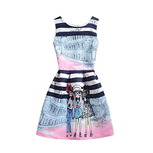 a3c012b397a51 Amazon.com: Perfectme Children Clothing 2018 Girls Dress Summer ...