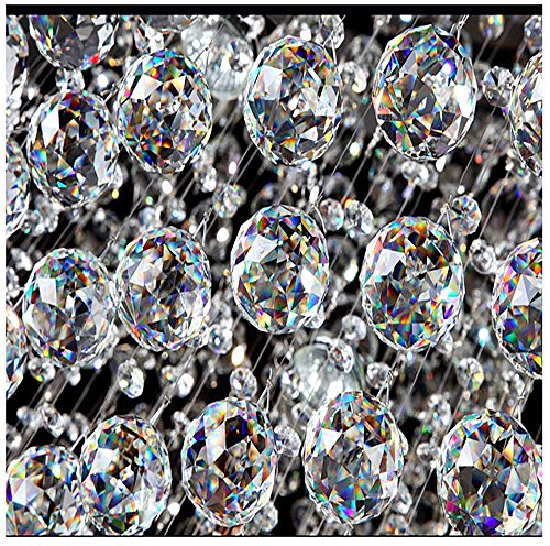 Yoker 40mm Clear Crystal Ball Prisms Pendant Feng Shui Suncatcher Decorating Hanging Faceted Prism Balls (Pack of 8) by Yoker (Image #7)