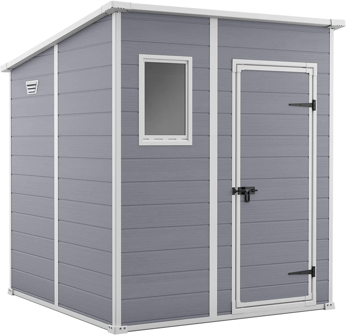 Keter 242787 - Caseta de jardín exterior Manor 6x6, Color gris