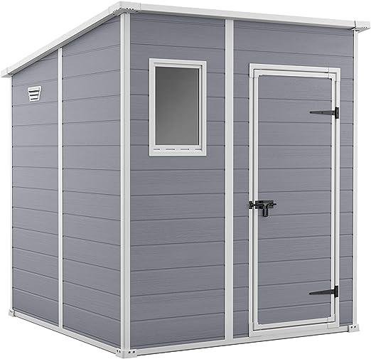 Keter 242787 - Caseta de jardín exterior Manor 6x6, Color gris: Amazon.es: Jardín