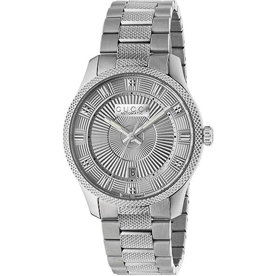 Reloj Gucci de Eryx, de 40 mm de Acero Inoxidable de Hombre automtico YA126339: Amazon.es: Relojes
