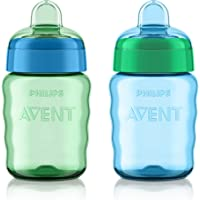 Philips Avent My Easy Sippy Cup with Soft Spout and Spill-Proof Design, Blue/Green, 9oz, 2pk