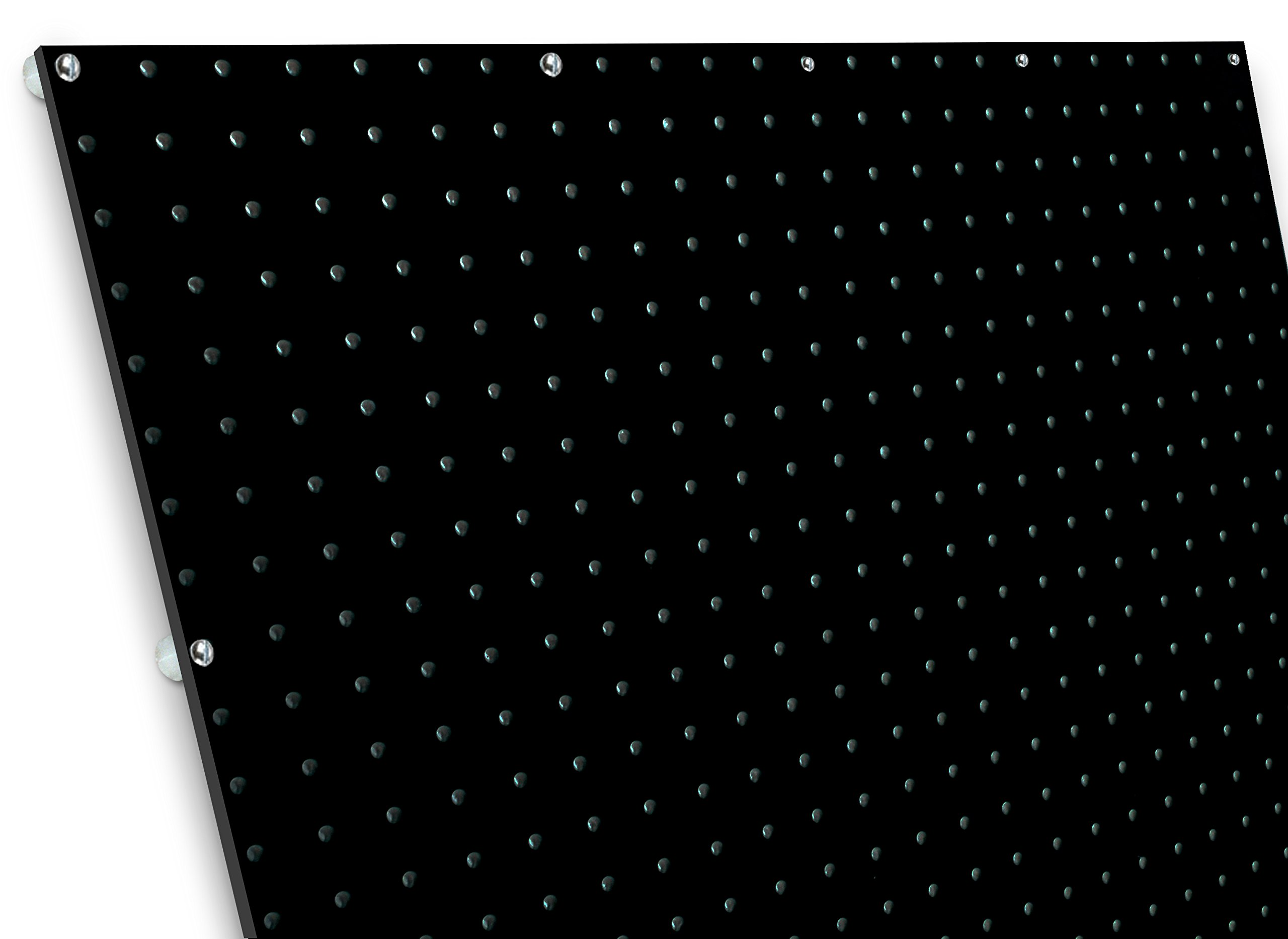 diamondLife HPB2448.G.BLK PegBoard X2, 24'' x 48'', Black by diamondLife