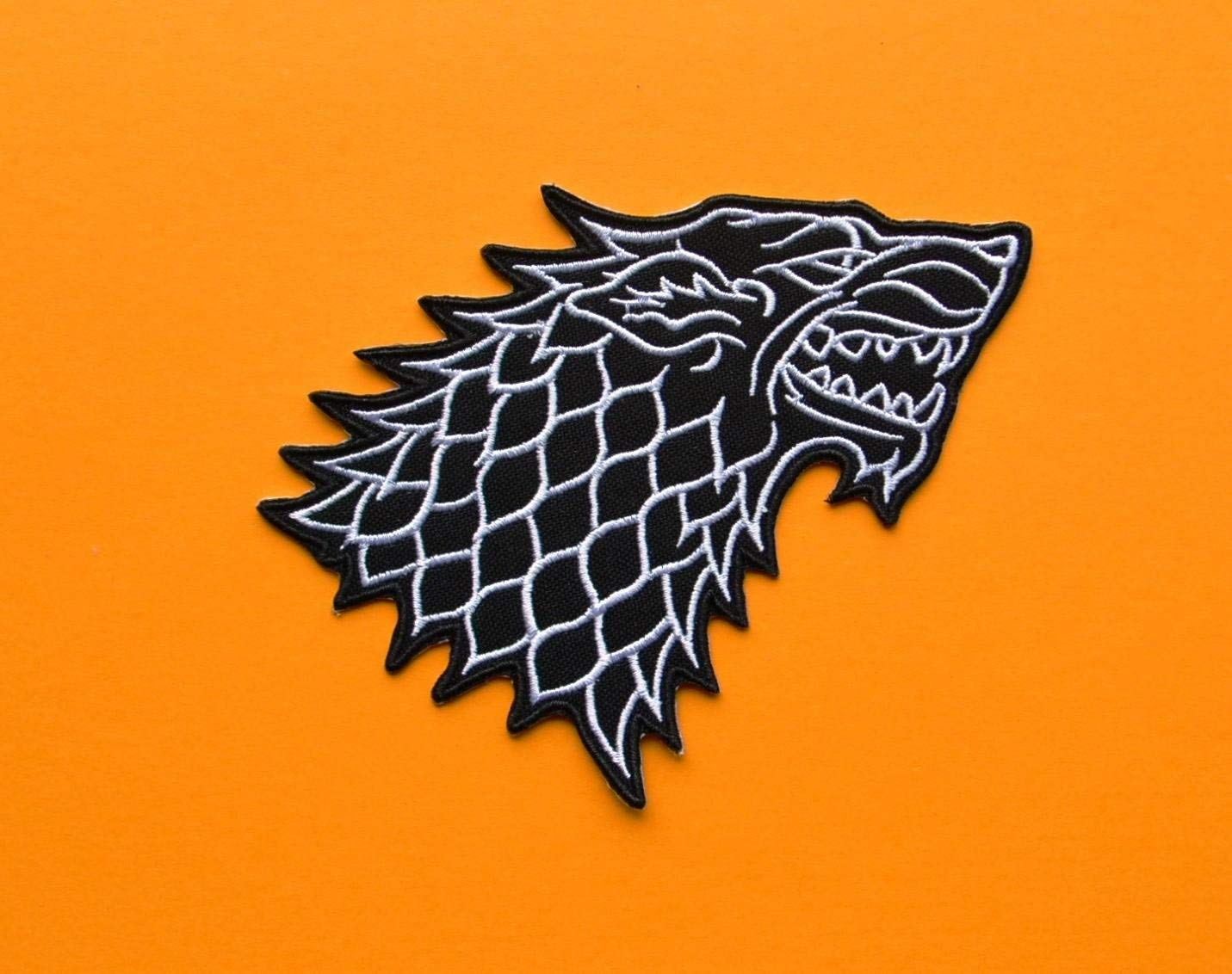 Game of Thrones Stark Direwolf Embroidered Cloth Iron On Patch