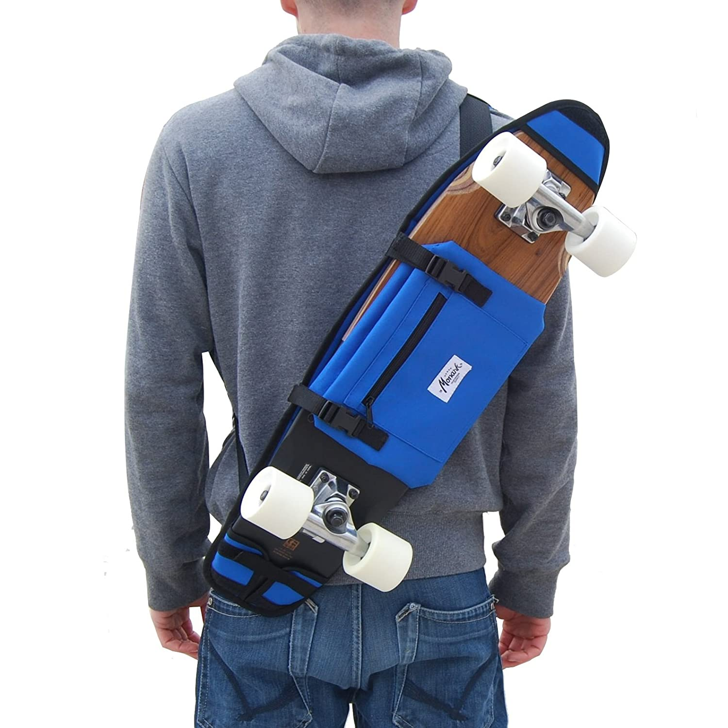 "Funda para Skate Bandolera Porta Skateboard 26 Y 27"" Azul. Monark Supply Idea de Regalo skate-home"