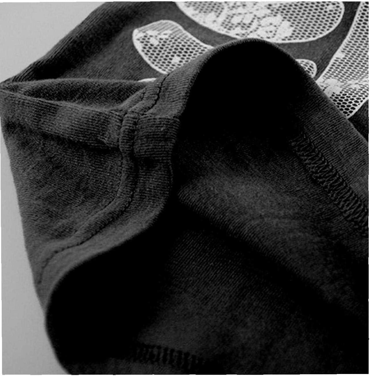 lujiaoshout Pijamas de Halloween noctilucentes Huesos cr/áneo Traje de algod/ón Puro c/ómodo 1set Pijamas de Ni/ños Ni/ñas Negro