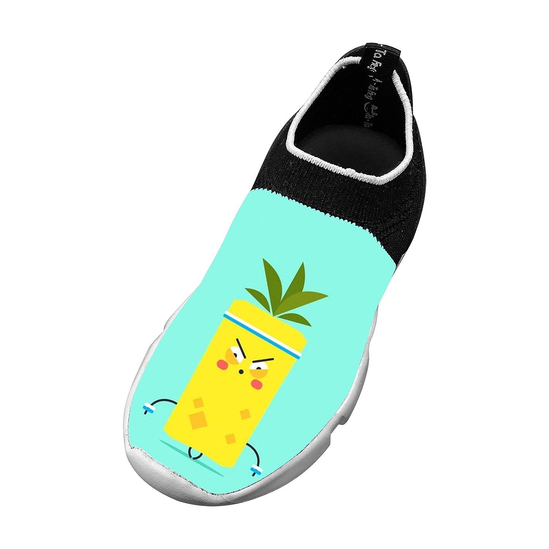 Kids Unique Pineapple Design Fly Knit Sneaker Shoes