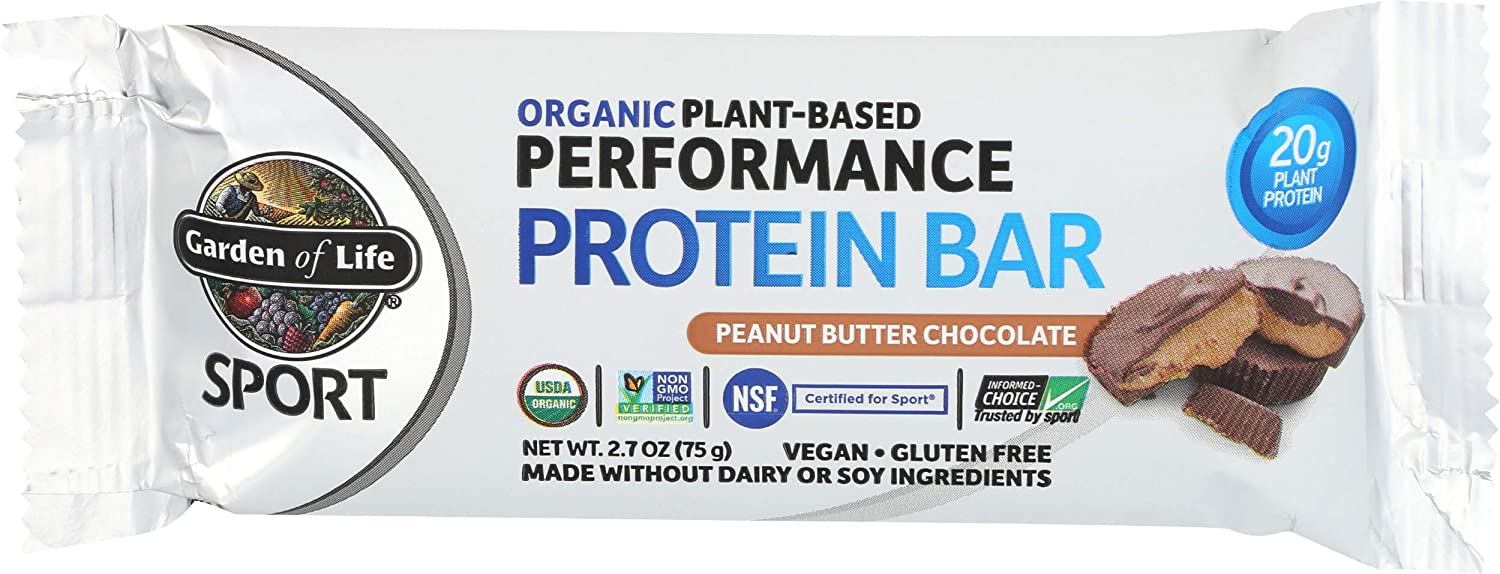 Garden Of Life, Bar Protein Peanut Butter Chocolate Organic, 2.7 Ounce