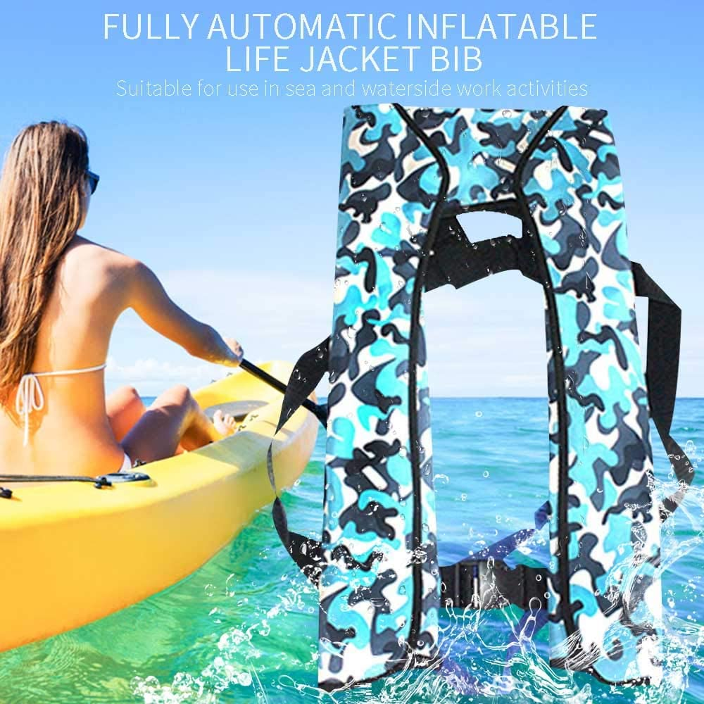 Ajing Life Jackets Automatic Inflating Life Vest Ultra-lightweight Neck Hanging Adult Life Jackets Portable Shoulder-style Inflatable Floating Jackets With Whistle