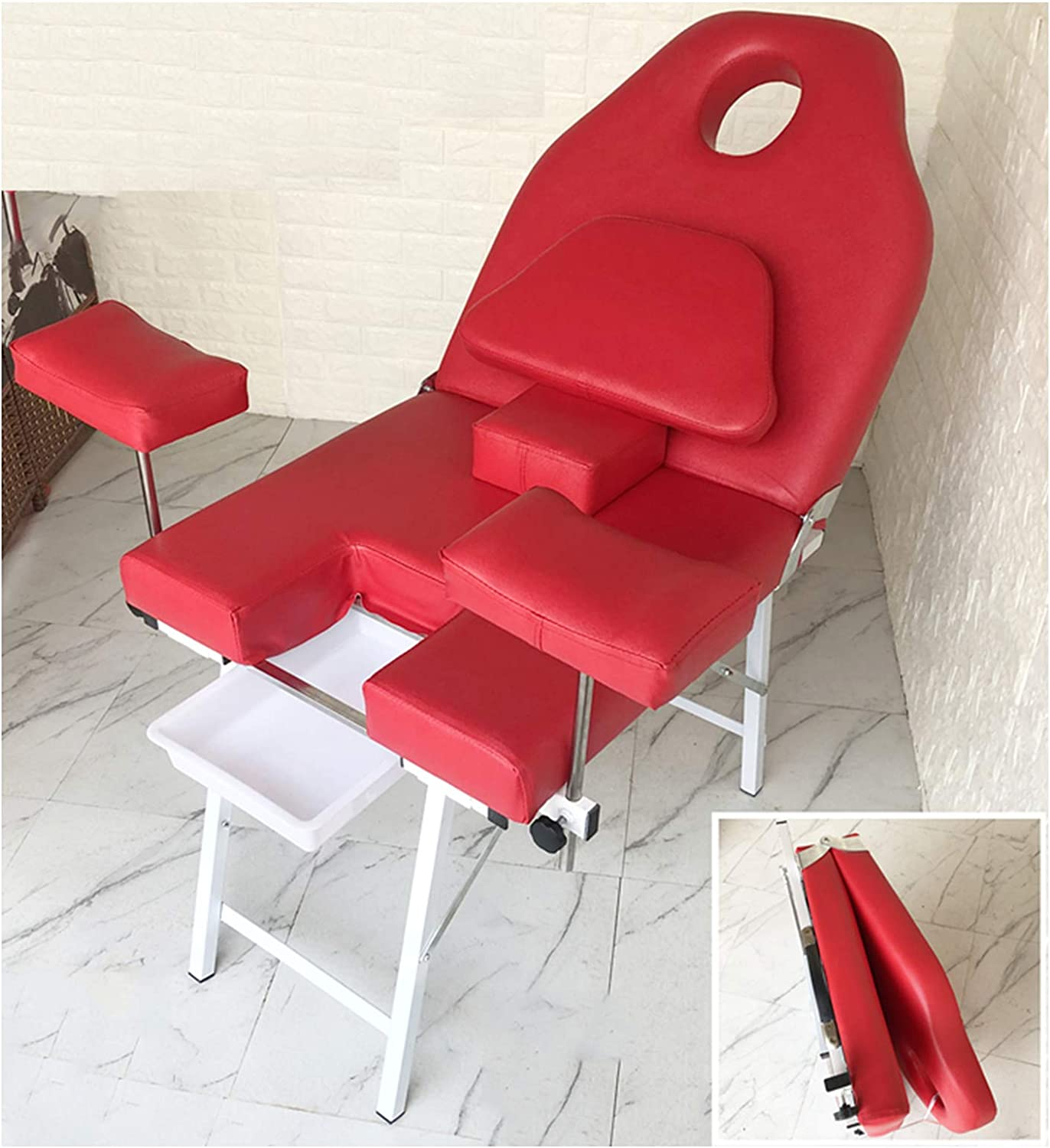 QMMD GYN Examination Table Portable Folding Gynecology Operating Bed, Light Weight 17KG,Outpatient Medical OB GYN Nursing Chair, Gynecological Surgery delivery Table,702560