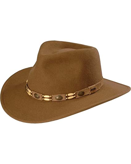 SCALA Men s Tracker Wool Outback Hat Pecan Large at Amazon Men s Clothing  store  Fedoras 6d23e0b2ff44
