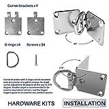 Windscreen4less Sun Shade Sail Hardware Kit 4 Pcs