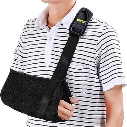 Cabestrillo para brazo Sling Eslinga de hombro dislocado para brazo roto Inmovilizador Soporte de codo de