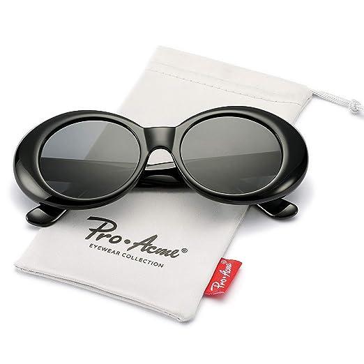 821d18e3ca Pro Acme Clout Goggles Retro Oval Kurt Cobain Sunglasses Mod Thick Frame  (Black)
