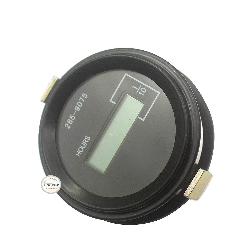 SINOCMP 285-9075 2859075 Hour Meter Hour Meter Timer for 320D E320D Excavator Timer Control Panel Gauge Hour Meter Parts, 3 Month Warranty