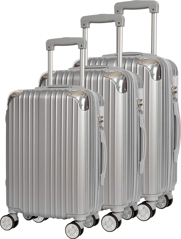 Compagnie du bagage SET DE 3 VALISES Set di valigie 50 Centimeters Argento Silver