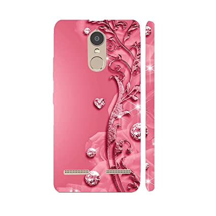 info for 91c04 11e74 Clapcart Designer Printed Back Cover for Lenovo K6 Power/Lenovo K6 - Pink  Colour (Heart Design for Girls)