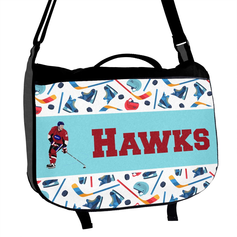 Hockey 2 Messenger Bag Personalized